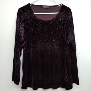 ✅Elementz Purple Sparkle Top
